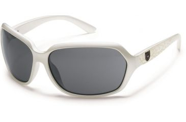 Suncloud Polarized Optics Empress Sunglasses - Pearl Lase Frame and Gray Polarized Polycarbonate Lens S-EMPPGYPLZ