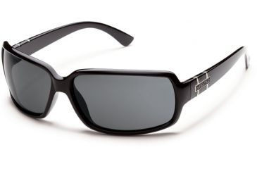 Suncloud Polarized Optics Poptown Sunglasses - Black Frame and Gray Polarized Polycarbonate Lens S-PPPPGYBK