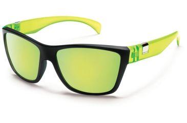 Suncloud Polarized Optics Speedtrap Sunglasses - Matte Black Yellow Frame and Yellow Mirror Polarized Polycarbonate Lens S-SPPPYLMBY