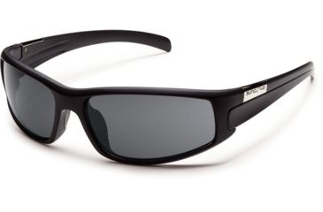 Suncloud Polarized Optics Swagger Sunglasses - Matte Black Frame and Gray Polarized Polycarbonate Lens S-SGPPGYMB