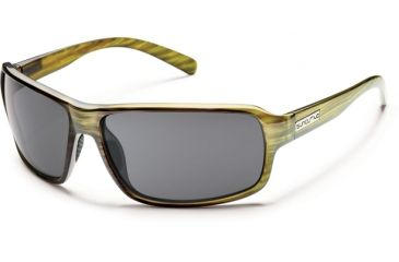 Suncloud Polarized Optics Tailgate Sunglasses - Green Stripe Frame and Gray Polarized Polycarbonate Lens S-TLPPGYGNS