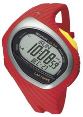 Soma Dwj01-0005 Running 100 Watch, Grey Face, Red Polyurethane Band SOMDWJ01-0005