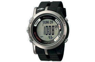 Soma Dwj81-0001 Alti-compass Watch, Grey Face, Black Polyurethane Band SOMDWJ81-0001