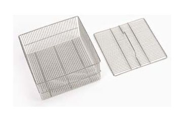SP Industries Accessories for Vertical, Undercounter, and Freestanding/Mobile Glassware Washers, National N0601-860 Baskets Test Tube Basket And Lid, Holds 150 Tubes Of 200 Mm Length, Quarter-Rack Size, Bottom Rack Only