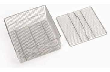 SP Industries Accessories for Vertical, Undercounter, and Freestanding/Mobile Glassware Washers, National N0601-858 Baskets Test Tube Basket And Lid, Holds 150 Tubes Of 150 Mm Length, Quarter-Rack Size