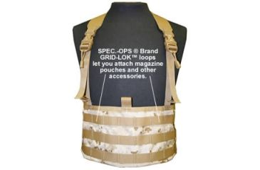 Spec-Ops Modular Chest Rig Cargo Vest - Digital Desert Camo