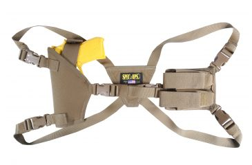 Spec Ops Shoulder Holster, Coyote Brown, Ambidextrous - Beretta M9, Glock & Similar