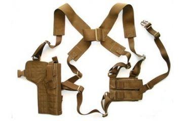 5-Specter Gear Vertical Shoulder Holster w/ Double Pistol Mag Pouch, M9 / Beretta 92F