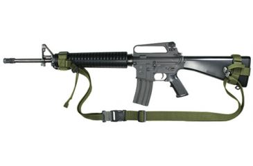 Specter Gear 2 Point Tactical Sling w/ERB, Armed Forces Package - Fits M-16A2/M-4 - Olive Drab