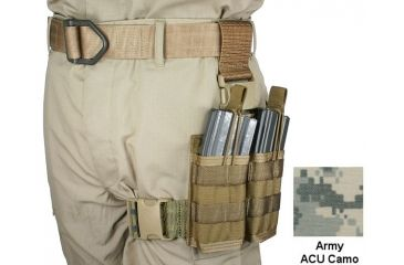 Specter Gear 30 rd. 5.56mm 2 Magazine Rapid Reload Tactical Thigh Rig,Army ACU Camo 740 ACU