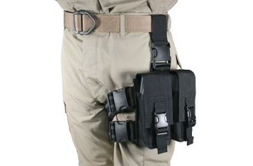 Specter Gear AR-15/M-16 Magazine Tactical Thigh Rig for Four 30rd Mags - Black