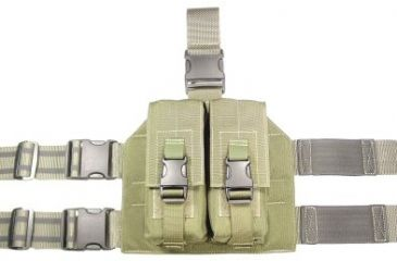 4-Specter Gear Double Magazine Pouch Tactical Thigh Rig for 30 Round 5.56mm M-16 / AR-15 Mags