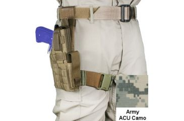 Specter Gear Tactical Right Hand ACU Camo Thigh Holster - Full Size Glocks