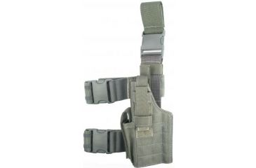 Specter Gear Tactical Thigh Holster, Glock 17/22/31, 4.49 bbl, Right Hand Foliage Green