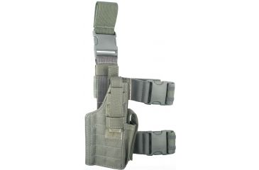 Specter Gear Tactical Thigh Holster, Right Hand Foliage Green - 1911A1 Types, 5 Barrel
