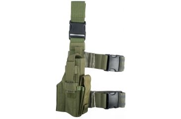 Specter Gear Tactical Thigh Holster, Springfield XD 9mm/.40 S&W Service Model, 4.05 Barrel, Right Hand - OD Green