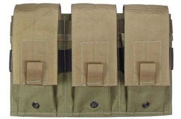 Specter Gear Triple Universal Rifle, Carbine, SMG Magazine MOLLE Pouch - Coyote