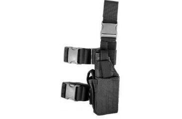 Specter Gear Universal Tactical Thigh Holster - Left Hand Black 607 LH-BLK