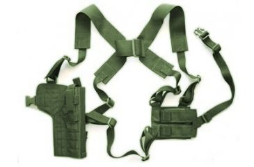 4-Specter Gear Vertical Shoulder Holster w/ Double Pistol Mag Pouch, M9 / Beretta 92F