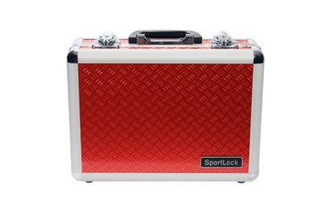 SportLock Double Pistol Case, Red, 11.74x8.5x4in 00002R
