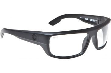 Spy Optic Bounty Sunglasses - Black Frame and ANSI Clear Lens 673017038094