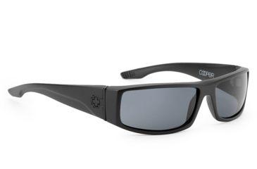 Spy Optic Cooper Sunglasses, Matte Black Frame, Grey Polarized Lens 670195374135
