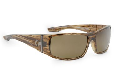 Spy Optic Cooper XL Sunglasses, Brown Stripe Tortoise Frame, Bronze Polarized Lenses 670036316074