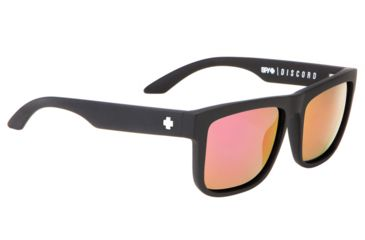Spy Optic Discord Sunglasses - Matte Black Spy + Kab Frame and Grey W/ Pink Spectra Lens 673119374810