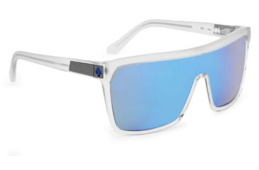 Spy Optic Flynn Sunglasses w/ Matte Shiny Clear Frame & Grey Green Blue Spectra Lens
