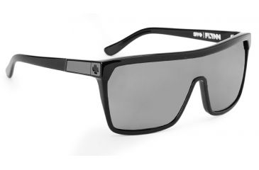Spy Optic Flynn Sunglasses w/ Shiny Black Matte Black Frame & Grey Lens
