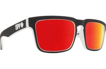 3b8e66fef Spy Optic Helm Sunglasses, Whitewall Frame, Happy Gray Green W/Red Spectra  Lens