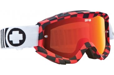 Spy Optic Klutch MX Goggles - Drag Frame and Smoke w/Red Spectra + Clear Lens 322017703827