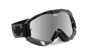 Spy Optic Klutch MX Goggles w/ Black Sabbath Frame & Clear Smoke Silver Mirror Antifog Lens w/ Posts