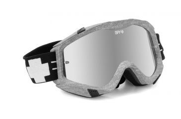 Spy Optic Klutch MX Goggles w/ Varsity Frame & Clear Smoke Silver Mirror Antifog Lens w/ Posts