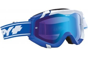 Spy Optic Klutch MX Goggles - Sunday Blue Frame and Smoke w/Light Blue Spectra + Clear Lens 322017396828