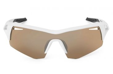 Spy Optic Screw Sunglasses w/ Matte White Frame & Bronze Black Mirror Lens