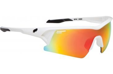 Spy Optic Screw Sunglasses - Matte White Frame and Bronze W/ Red Spectra Lens 673019396083