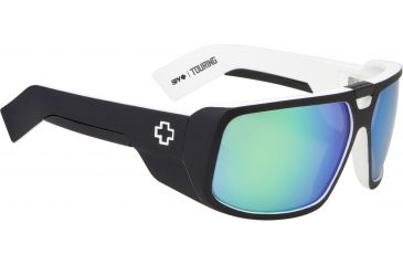 Spy Optic Touring Sunglasses - Whitewall Frame and Grey W/Green Spectra Lens 670795809811