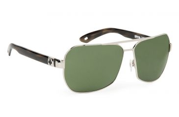 Spy Optic Weller Sunglasses w/ Silver Black Tortoise Frame & Grey Green Lens