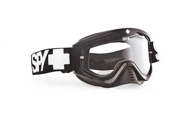 Spy Optic Whip MX Goggles, Black Enduro Frame, Dual Clear Antifog Lens 320791062115