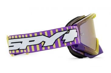 Spy Optic Whip MX Goggles w/ Throwback Purple Frame & Smoke Dark Blue Spectra Mirror Lens