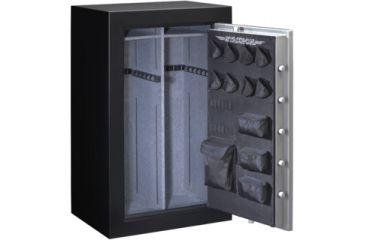 Stack-On 36 Total Defense Gun Safe w/ Combination Lock and Door Storage, Large, Matte Black/Silver TD-36-SB-C-S
