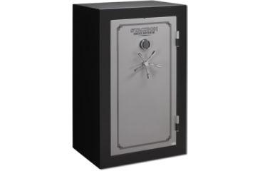 Stack-On 36 Total Defense Gun Safe w/ Electronic Lock and Door Storage, Large, Matte Black/Silver TD-36-SB-E-S
