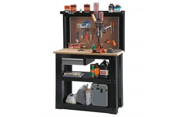 Stack On Rta Steel Reloading Bench With Pegboard Backwall And