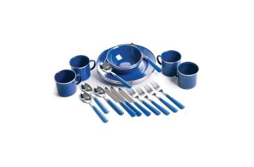 Stansport Enamel Camping Tableware Set 24 Pieces 192448