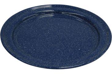Stansport Enamel Dinner Plate Stainless Steel Edge, 10in. 48212