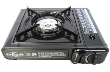 Stansport Portable Outdoor Butane Stove with Case, Red 48240