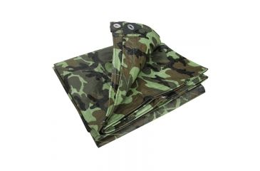 Stansport Rip Stop Tarp - 10x12ft,Woodland Camo T-1012-C