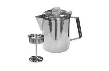 Stansport Stainless Steel Percolator Coffee Pot, 9 Cup 276-9