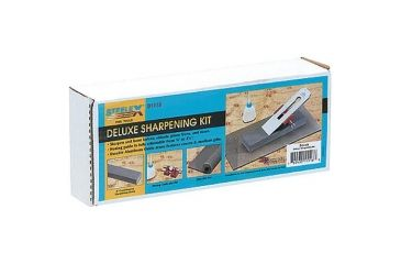 Steelex Course/Medium Grit Sharpening Stone Set, Non-Slip Rubber Pad Included, 8 in. Long D1118